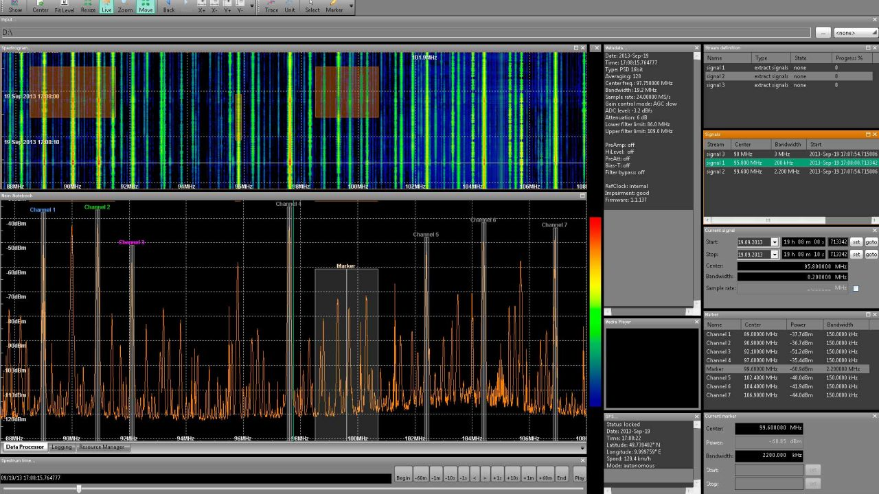 Extracting Multible Signals with IZT Signal Suite Data Processor