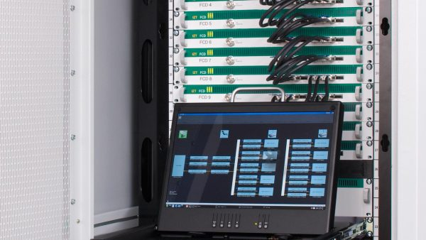 IZT C6000 for synchronous bi-directional satellite Links built-in Rack with Laptop