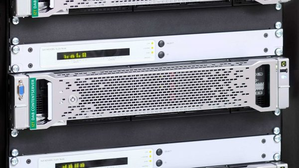 Three IZT DAB ContentServer built in rack